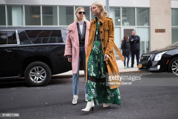 Mary Seng is seen on the street attending SelfPortrait during New York Fashion Week on February 10 2018 in New York City