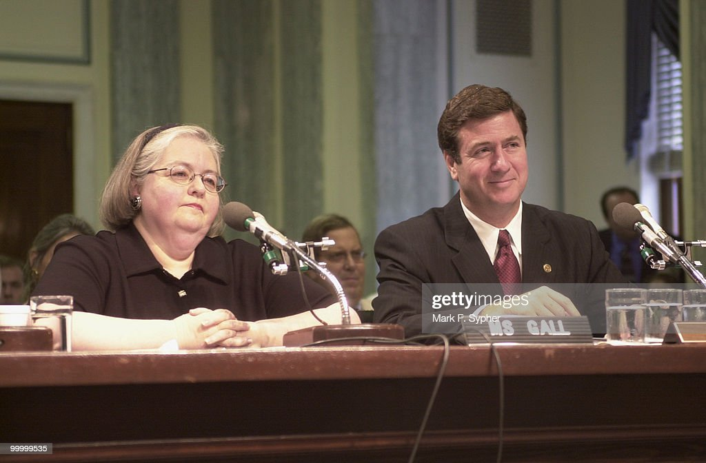 Mary Sheila Gall and Senator George Allen (R-VA) appeared before a committee hearing for Galls nomination to be chair of the Consumer Product Safety Commission.