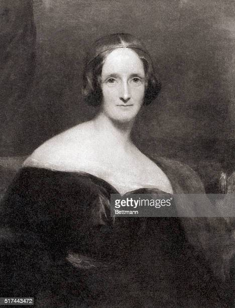 Mary Shelley English Novelist Author of Frankenstein Painting by R Rothwell Undated
