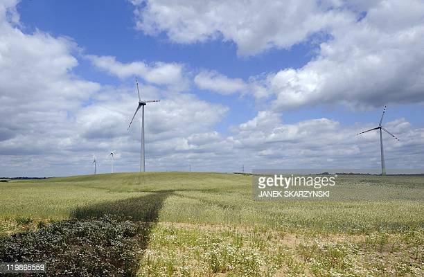 Mary Sibierski View of windmills near Kisielice in northern Poland, on June 23, 2011. In Poland's historic Gdansk Shipyard, the winds of change are...