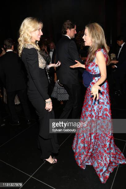 Mary Snow and Alexandra Lind Rose attend Museum Of the City Of New York Winter Ball at Cipriani 42nd Street on February 21 2019 in New York City