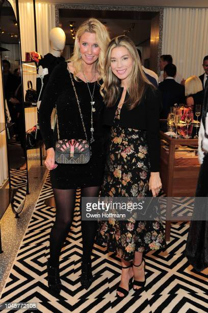 Mary Snow and Alexandra Lind Rose attends Valentino Kick Off For Casita Maria's Fiesta 2018 at Valentino Boutique on October 4 2018 in New York City