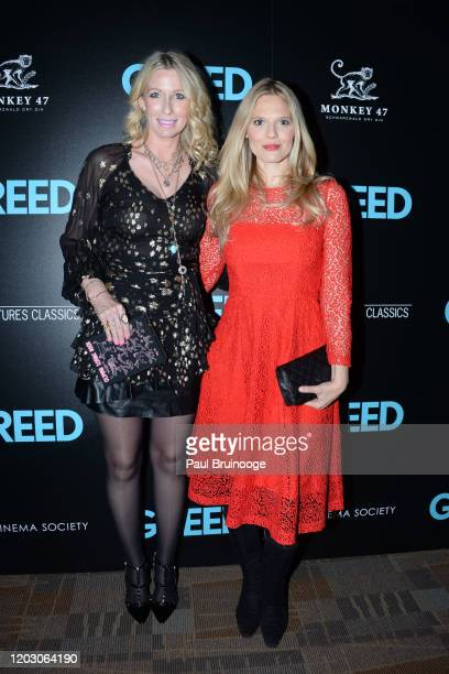 "Mary Snow and Jasmine Lobe attend The Cinema Society & Monkey 47 Host A Special Screening Of Sony Pictures Classics' ""Greed"" at Cinepolis Chelsea on..."