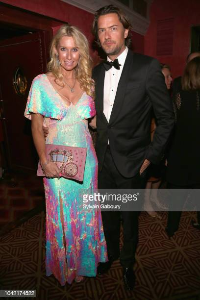 Mary Snow and Joachim Bader attend David Patrick Columbia And Chris Meigher Toast The QUEST 400 At DOUBLES on September 27 2018 in New York City