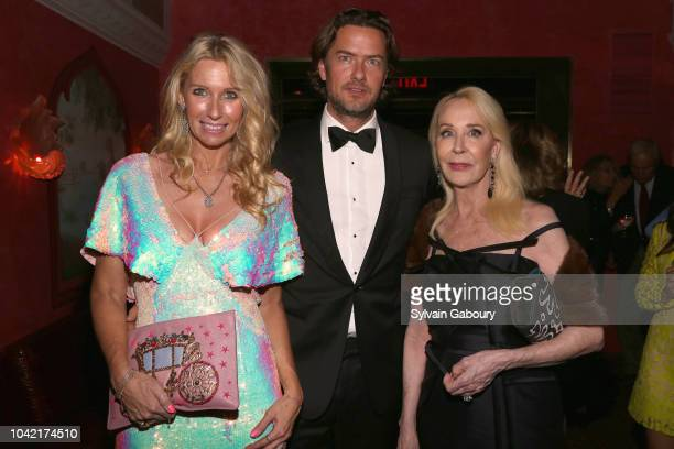 Mary Snow Joachim Bader and Barbie Bancroft attend David Patrick Columbia And Chris Meigher Toast The QUEST 400 At DOUBLES on September 27 2018 in...