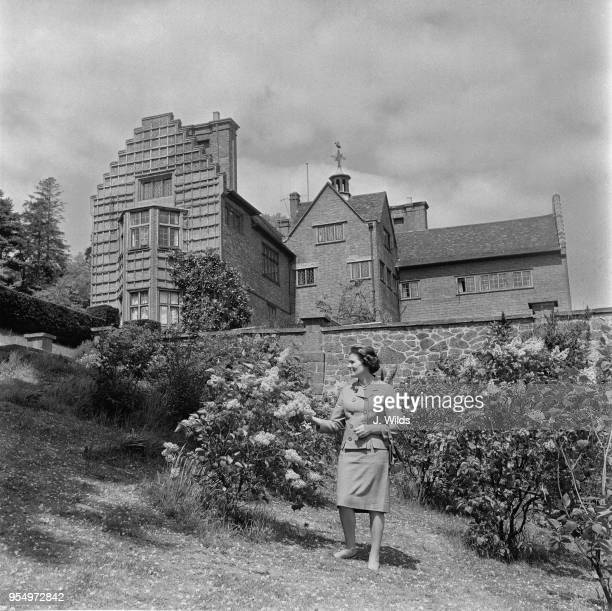 Mary Soames daughter of Sir Winston Churchill in the gardens of Chartwell the premiere's former home in Kent 8th June 1967 The house was presented to...