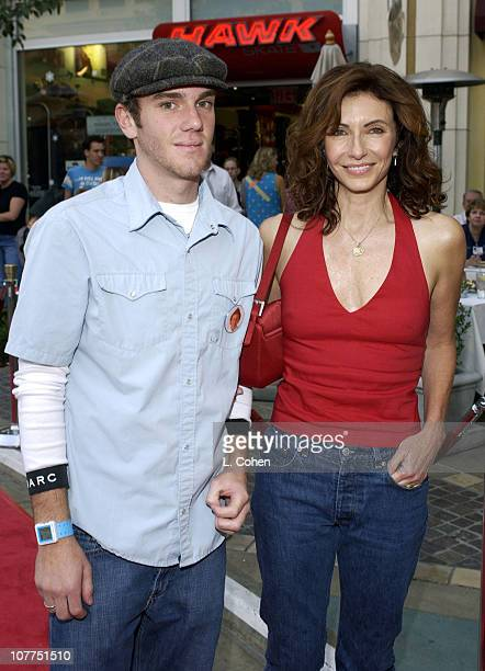 Mary Steenburgen and son Charlie during 'Elf' Special Screening Los Angeles Red Carpet at The Grove Theater in Los Angeles California United States
