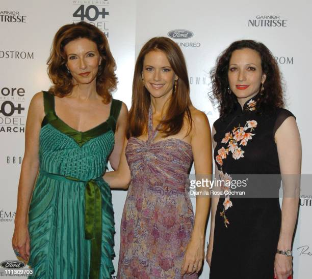 Mary Steenburgen Kelly Preston and Bebe Neuwirth during The Winners of the 6th Annual More Magazine Wilhelmina 40 Model Search at Cipriani in New...