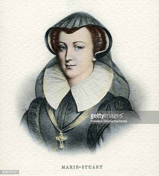 Mary Stuart daughter of James V, King of Scotland; she was Queen of Scots, Queen consort of France and Queen of England for the English legitimists...