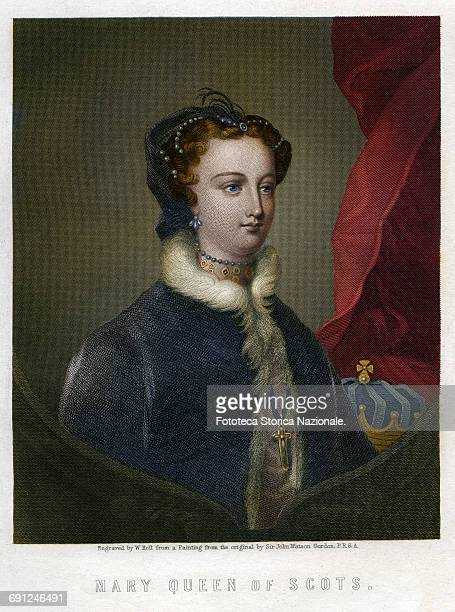 Mary Stuart daughter of James V King of Scotland she was Queen of Scots Queen consort of France and Queen of England for the English legitimists era...