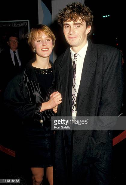 Mary Stuart Masterson and guest at the Premiere of 'Some Kind of Wonderful' Mann's Chinese Theatre Hollywood