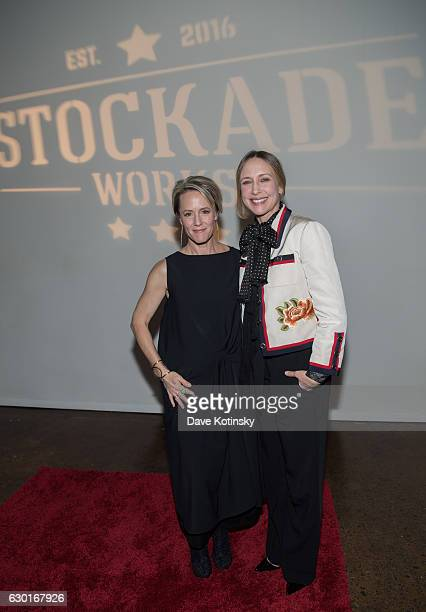 Mary Stuart Masterson and Vera Farmiga attend the Holiday Fundraiser for #StockadeWorks on December 17 2016 in Kingston New York