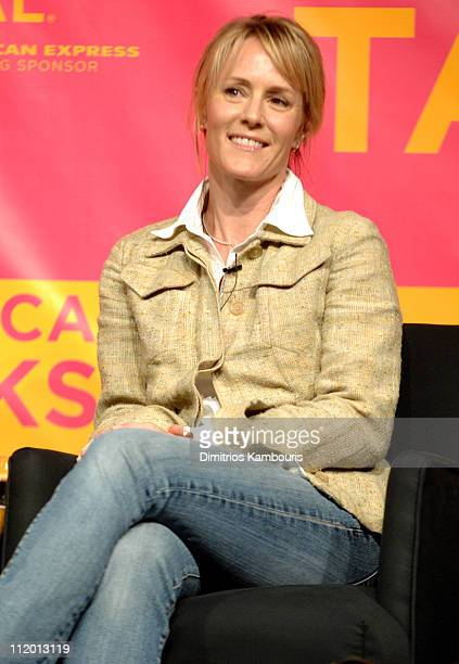 Mary Stuart Masterson during Bringing Home the Bacon Press Conference at Tribeca Performing Arts Center in New York City New York United States