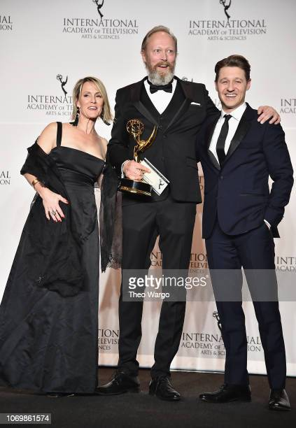 Mary Stuart Masterson Lars Mikkelsen and Ben McKenzie attend the 46th Annual International Emmy Awards at New York Hilton on November 19 2018 in New...