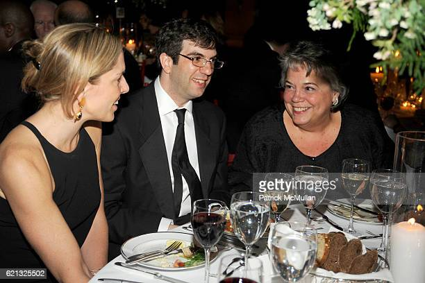 Mary Sue Rucci AJ Jacobs and Caroline Reidy attend Literacy Partners Hosts Annual Gala An Evening of Readings Honoring David and Julia Koch at...