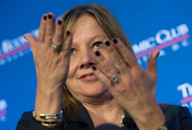 General motors ceo mary barra speaks at the economic club for General motors washington dc
