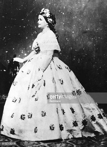 Mary Todd Lincoln wife of Abraham Lincoln in formal dress Brady Photograph BPA2# 2860