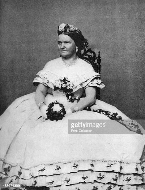 Mary Todd Lincoln wife of President Abraham Lincoln c1860s Mary Todd Lincoln was First Lady of the United States from 1861 to 1865 Illustration from...