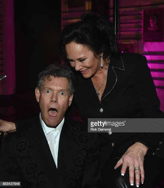 Mary Travis and Randy Travis attend Country Music Hall of Fame and Museum New AMERICAN CURRENTS Exhibition on March 14 2017 in Nashville Tennessee