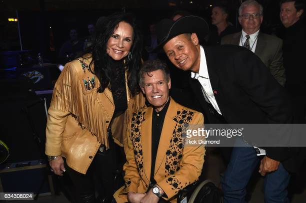 Mary Travis Randy Travis and Neal McCoy backstage during 1 Night 1 Place 1 Time A Heroes Friends Tribute to Randy Travis at Bridgestone Arena on...
