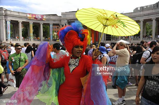 Mary Trini from Miami posed for Denver fans at PrideFest Saturday Denver PrideFest 2011 takes place Saturday June 18 from 11am7pm and Sunday June 19...