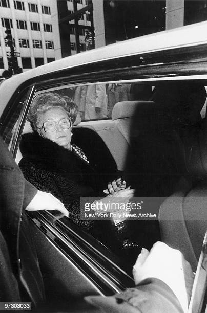 Mary Trump, mother of real estate magnate Donald Trump, arrives in her Rolls Royce for a luncheon with daughter-in-law Ivana.