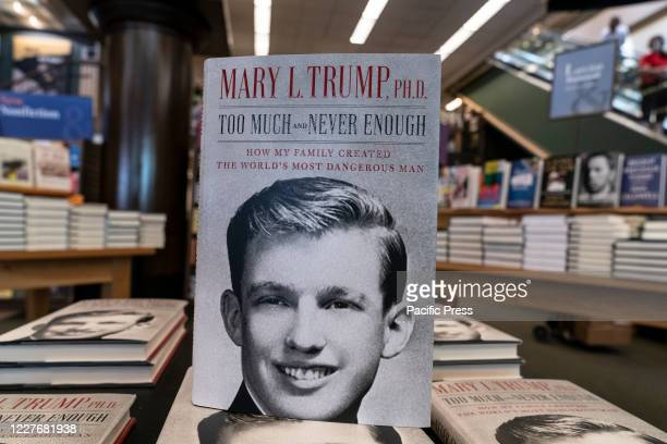 Mary Trump's new book about U.S. President Donald Trump is on display on first day of sale at Barnes & Noble store on Broadway in Manhattan. Book is...