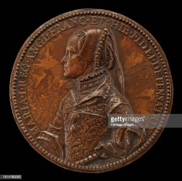 Mary Tudor, 1516-1558, Queen of England 1552 [obverse], 1555. Artist Jacopo da Trezzo.