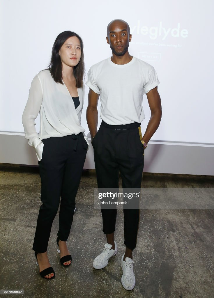 Mary Tung and Jae Joseph attend StyleGlyde App launch at Tumblr HQ on August 22, 2017 in New York City.