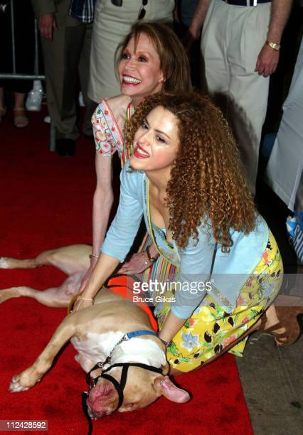 Mary Tyler Moore and Bernadette Peters during Broadway Barks 5 in Shubert Alley at Shubert Alley in New York City, New York, United States.