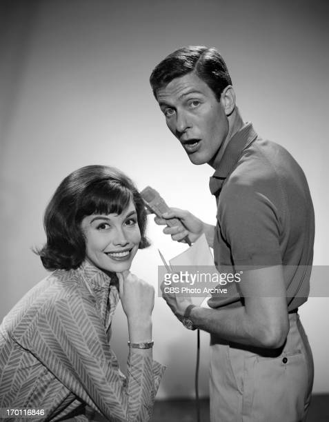 Mary Tyler Moore and Dick Van Dyke for THE DICK VAN DYKE SHOW Image dated April 21 1961