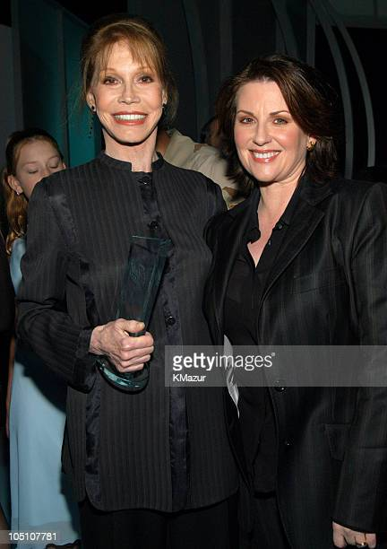 Mary Tyler Moore and Megan Mullally during Lifetime's Achievement Awards Women Changing the World Arrivals at Manhattan Center in New York City New...