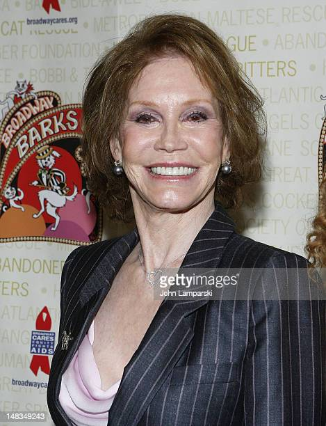 Mary Tyler Moore attends Broadway Barks 14 at the Shubert Alley on July 14 2012 in New York City