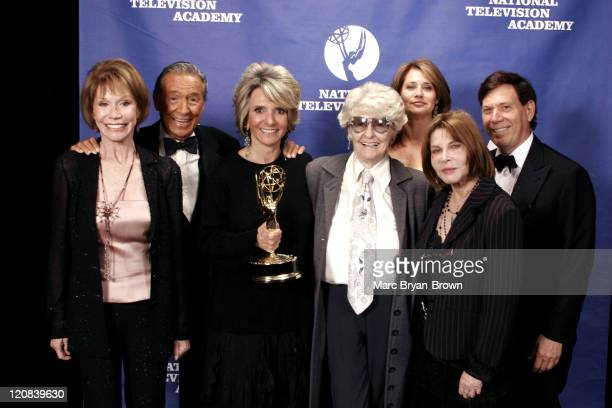 Mary Tyler Moore Mike Wallace Sheila Nevins Elaine Stritch Lorraine Bracco Lee Grant and Peter Price at the 26th Annual News and Documentary Emmy...