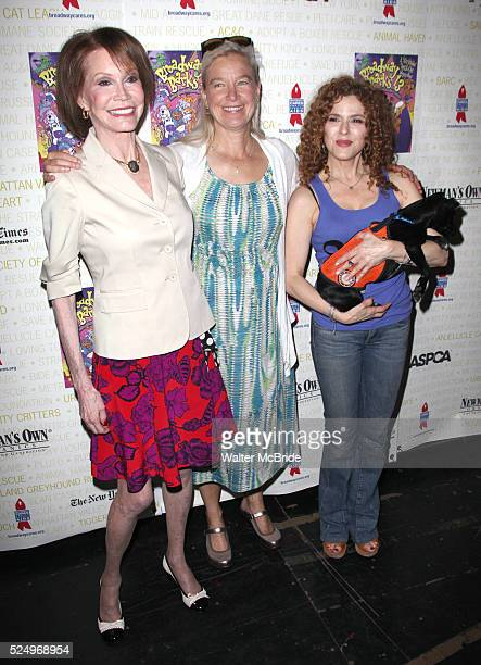 Mary Tyler Moore Nell Newman Bernadette Peters Backstage at Broadway Barks Lucky 13th Annual Adoptathon in New York City