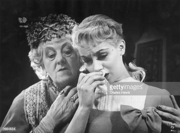 Mary Ure and Margaret Rutherford in a scene from the play 'Time Remembered', at Hammersmith's Lyric theatre in London. Original Publication: Picture...