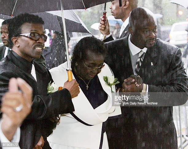 Mary Vandross is escorted into the Riverside Church on the upper West Side for funeral services for her son Luther Vandross The RB legend who...
