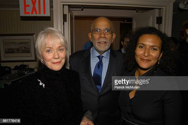Mary Wallace Ed Bradley and Patricia Blanchet attend A Celebration of Mike Wallace's New Book Between You and Me at Arabelle on October 25 2005 in...