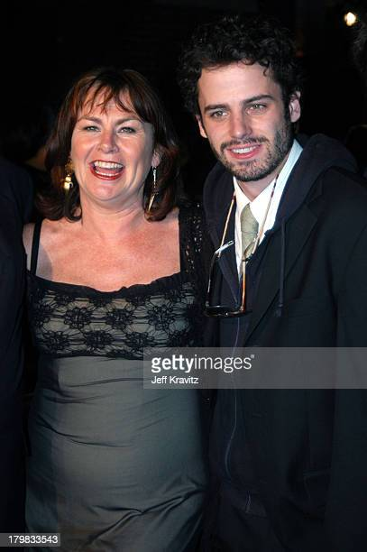 Mary Walsh and Luke Kirby during 2003 Toronto Film Festival Mambo Italiano Party at Brasserie Restaurant in Toronto Ontario Canada