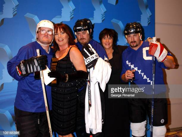 Mary Walsh Kathy Jones and Trailer Park Boys during 2003 18th Annual Gemini Awards Press Room at Metro Toronto Convention Centre in Toronto Ontario...