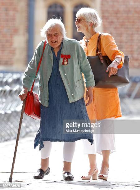Mary Warnock Baroness Warnock arrives to attend Evensong at the Chapel Royal Hampton Court Palace to celebrate the Centenary of the founding of the...