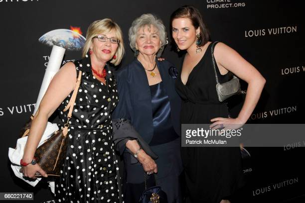 Mary Weeks Marilyn Lovell and Caroline Harrison attend LOUIS VUITTON 40th Anniversary of the Lunar Landing Tribute Event at Rose Center for Earth and...