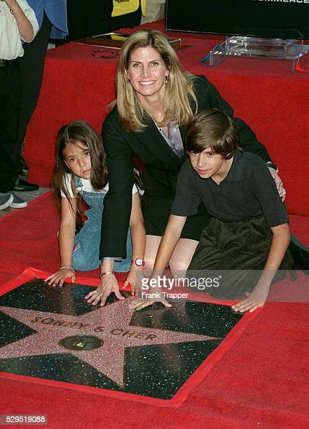 Mary Whitaker Sonny Bono's widow and her children