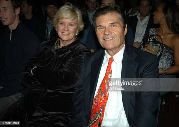 Mary Willard and Fred Williard during Comedy Central's First Annual Commies Awards Backstage at Sony Studios in Culver City California United States