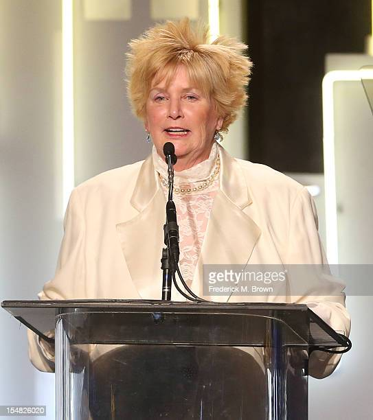 Mary Willard speaks during Big Brother Big Sister Of Greater Los Angeles 2012 Rising Stars Gala at The Beverly Hilton Hotel on October 26 2012 in...