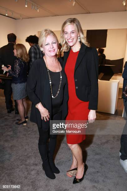 Mary Wilson and Rebecca Brunswick during the The Art Show Gala Preview at Park Avenue Armory on February 27 2018 in New York City