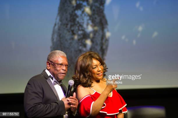 Mary Wilson and Senator Willie Simmons visit with the audience at GRAMMY Museum Mississippi on March 9 2018 in Cleveland Mississippi