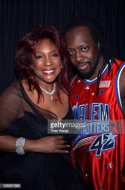 Mary Wilson and Wyclef Jean during Miramax Films Presents Only The Strong Survive Arrivals and After Party at BB Kings in New York City New York...