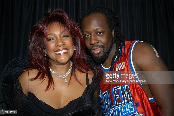 Mary Wilson and Wyclef Jean get together at BB King Blues Club Grill during premiere party for the movie Only the Strong Survive