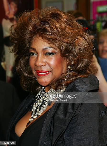 Mary Wilson attends the World Premiere of Hairspray The School Muscial at the Lyric Theatre on August 31 2008 in London England